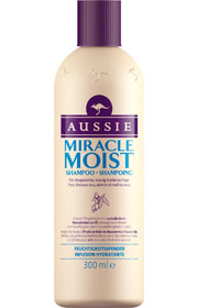 Miracle Moist Shampoing pour Cheveux Secs et Abîmés, Aussie