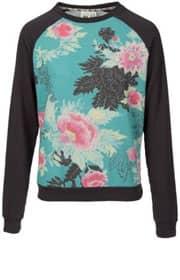 Sweatshirt turquoise à imprimé floraux, Billabong