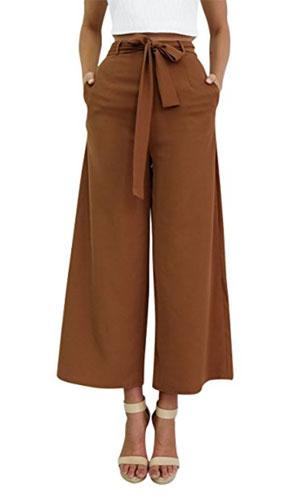 Pantalon large taille haute, Dolamen