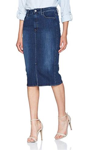Jupe en jean taille haute, G-Star-Raw
