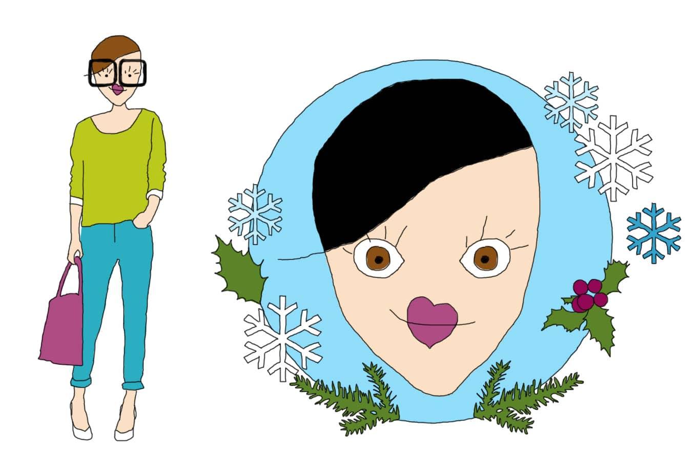 Relooking couleurs : La femme hiver
