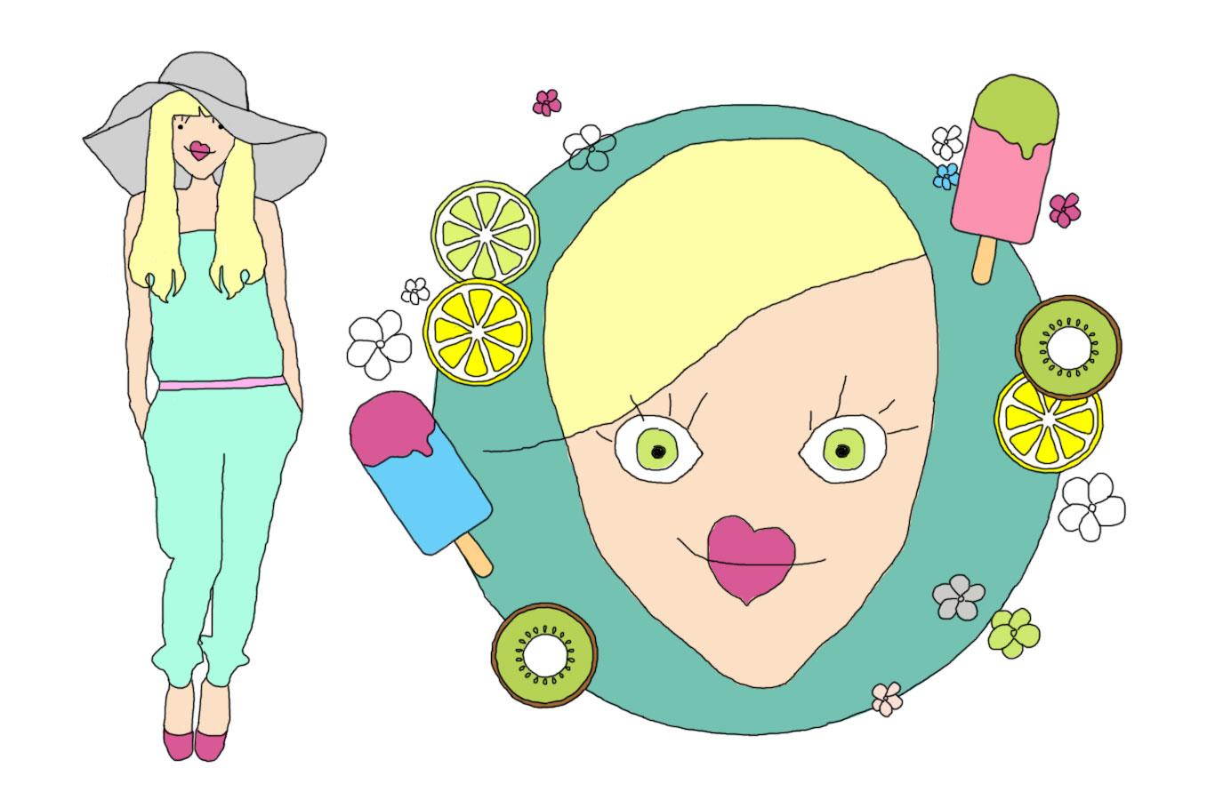 Relooking couleurs : la femme été