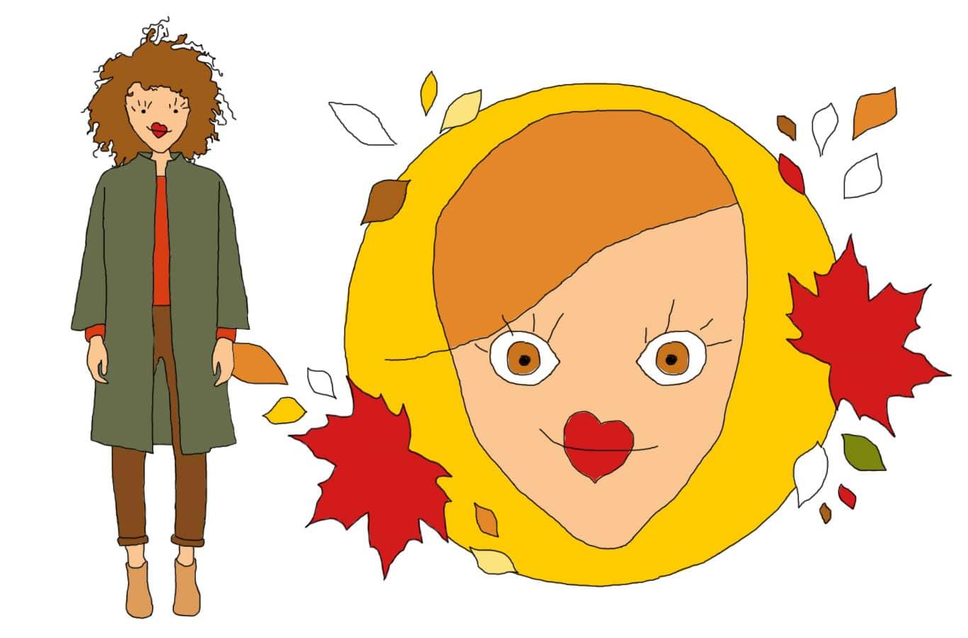 Relooking couleurs : la femme automne