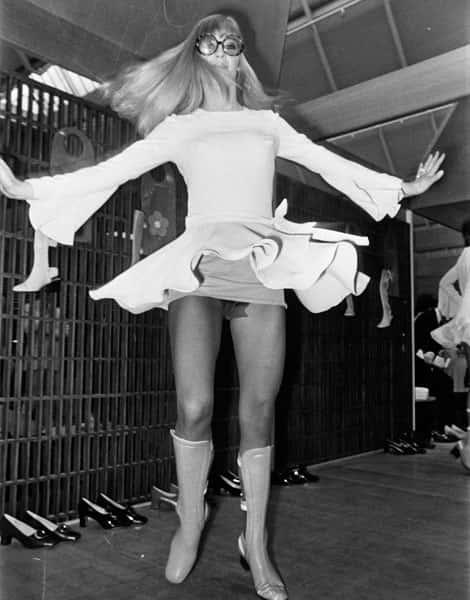Histoire de la Mode, minijupe du défilé Mary Quant - 1969