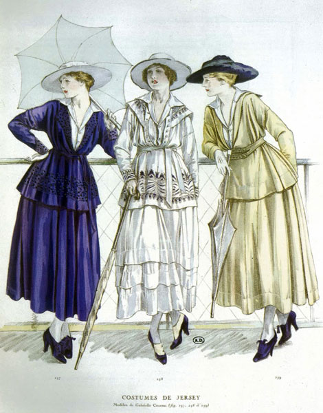 Costumes Chanel, 1917