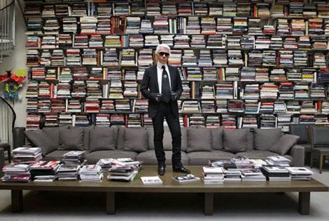 Karl Lagerfeld, directeur artistique de Chanel