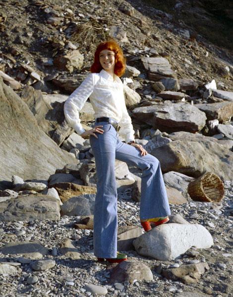 Patte d'éph et boots plateformes au milieu des années 1970