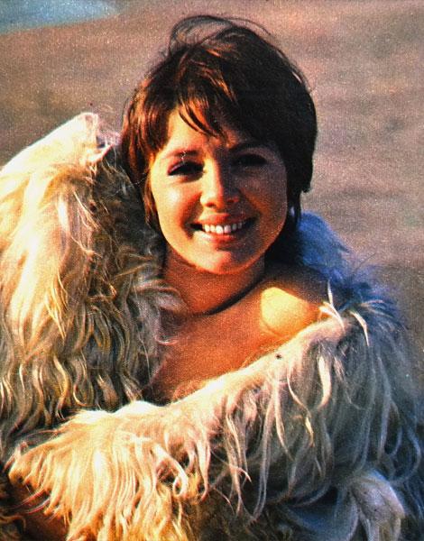 1970, Haydée Politoff en fourrure