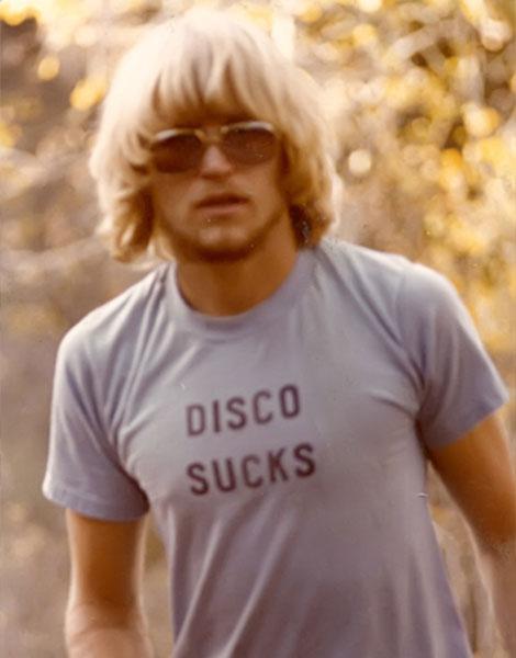 """1977, t-shirt """"Disco sucks"""""""
