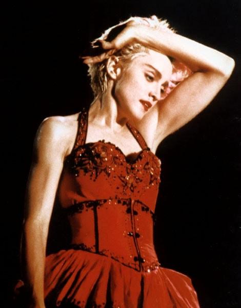 Coupe garçonne : Madonna en 1987