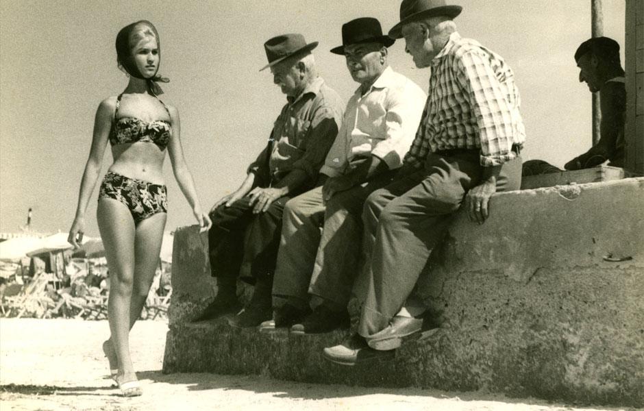 Maillot deux-pièces dans les années 1950