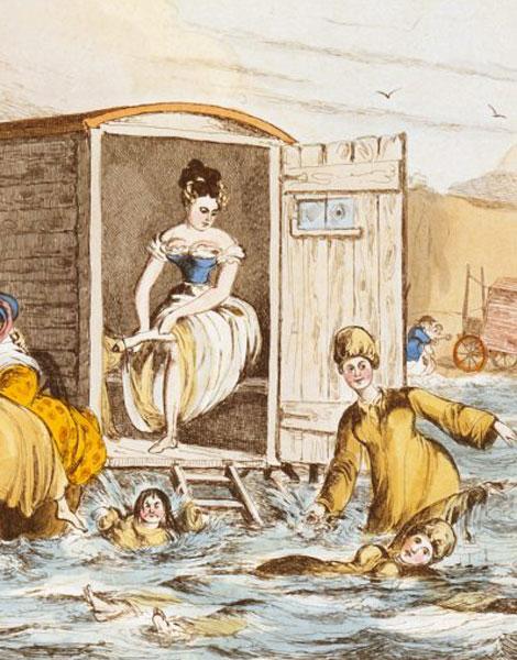 Cabines de bain mobiles en 1829