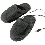 Pantoufles chauffantes USB, Infactory
