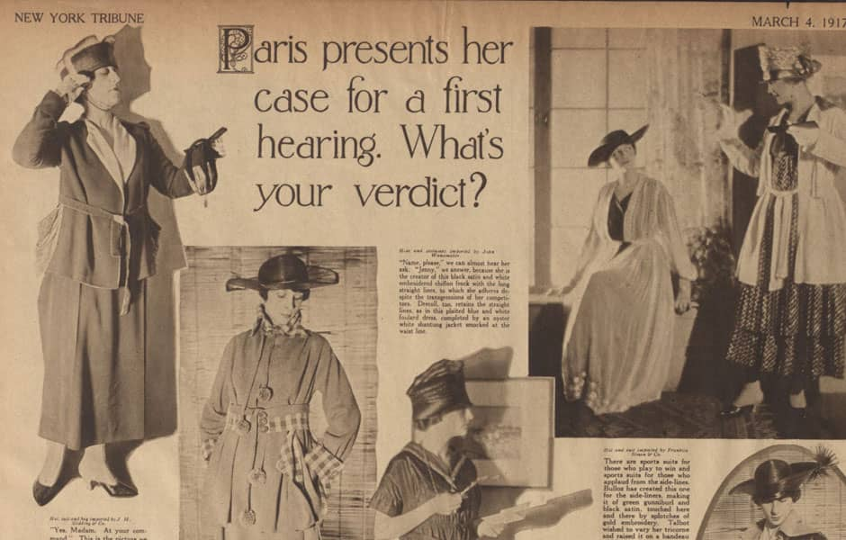 Lanvin dans la New York Tribune, 1917