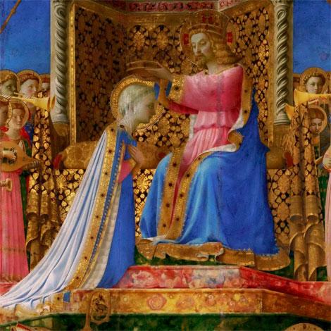 Le Bleu Lanvin inspiré de Fra Angelico, Le Couronnement de la Vierge