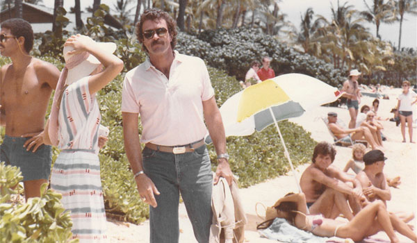 Tom Selleck, alias Magnum, en 1984