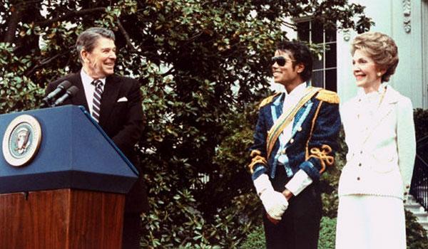 Michael Jackson et le couple présidentiel Reagan, 1984
