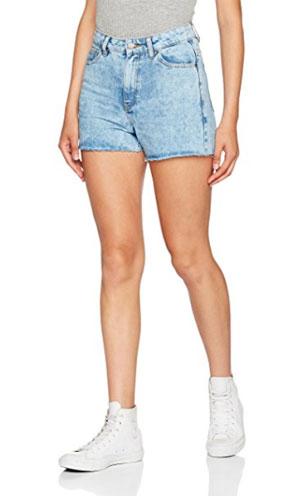 Short en jeans taille haute, Pieces