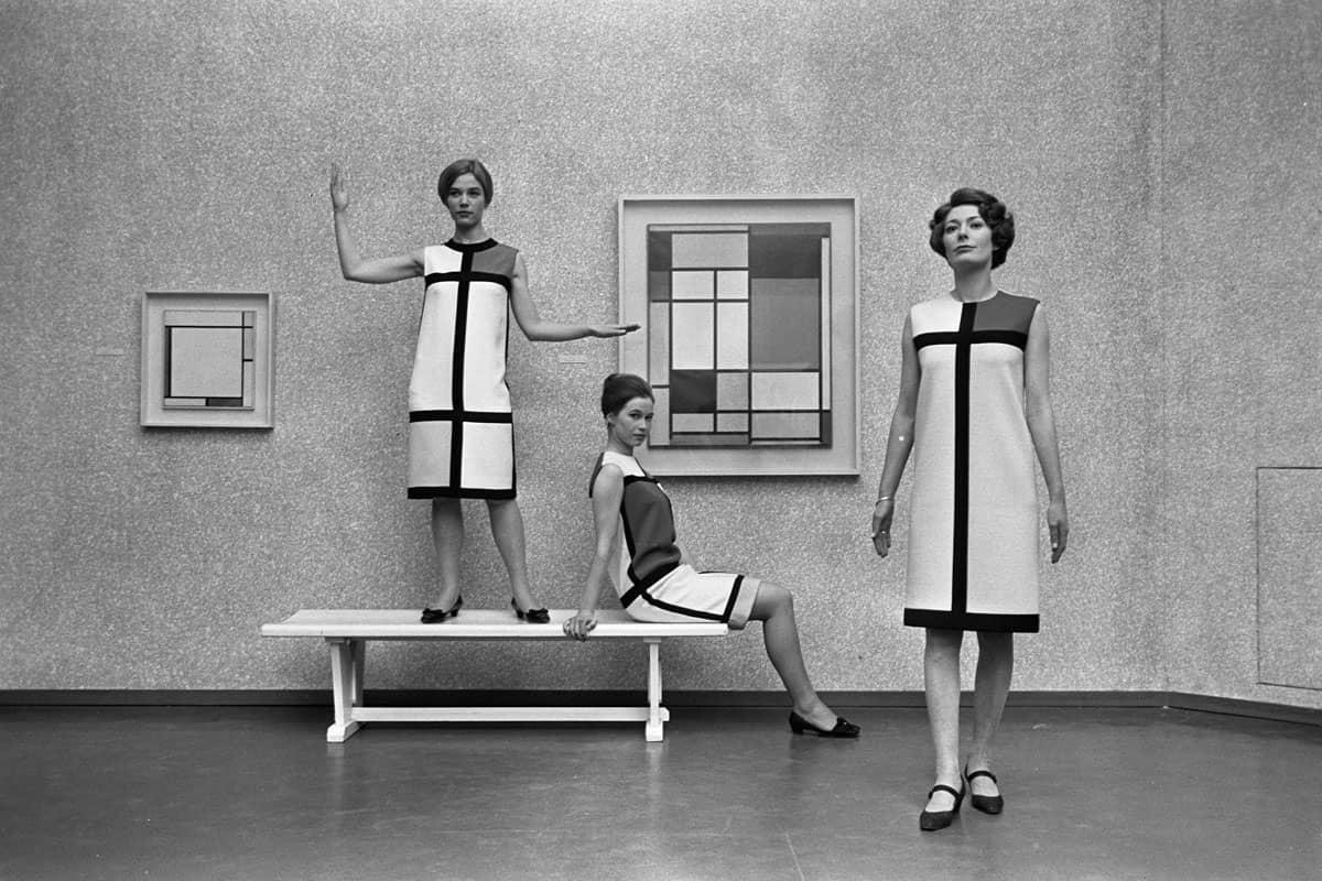 La robe Mondrian par Yves Saint Laurent, 1966