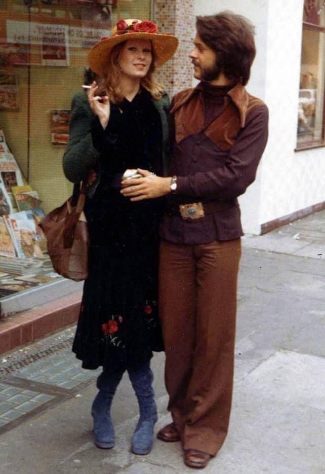 Robe bohème longue dans les années soixante-dix