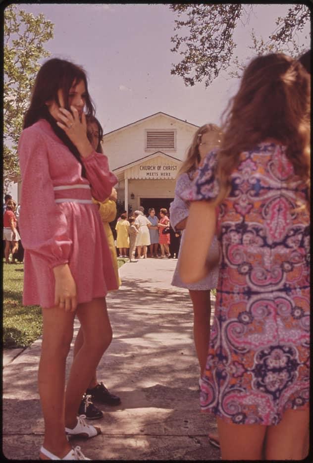 Robe bohème mini, années 1970