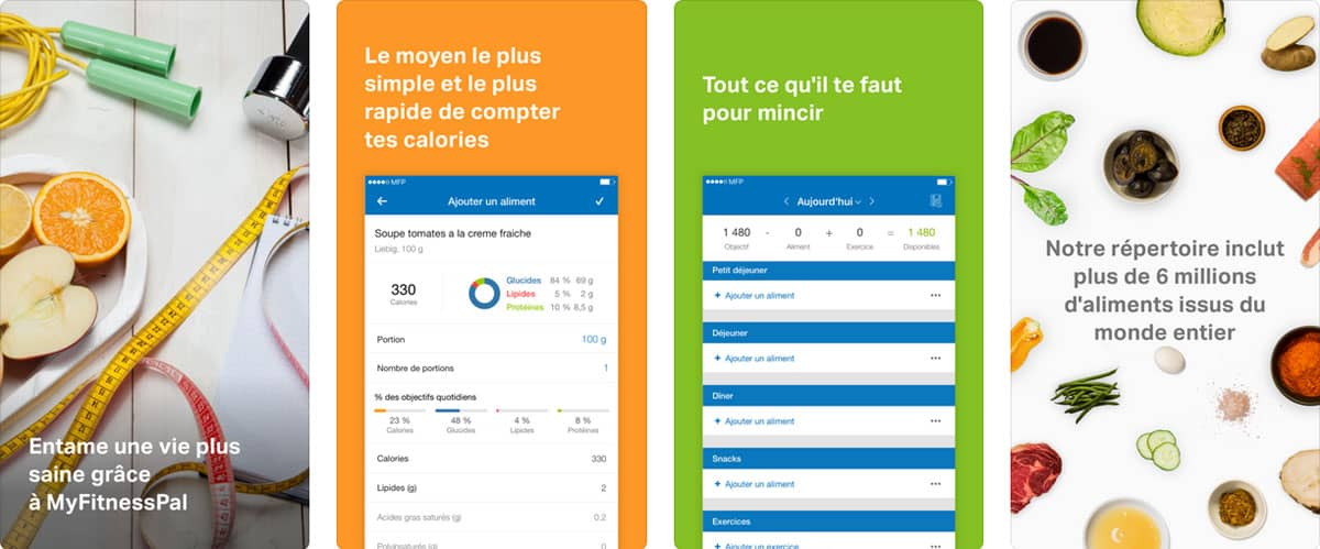 Appli mobile minceur : My Fitness Pal