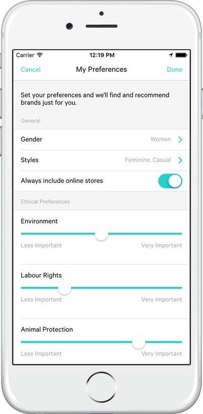Good on you : l'app de mode éthique, écolo et responsable