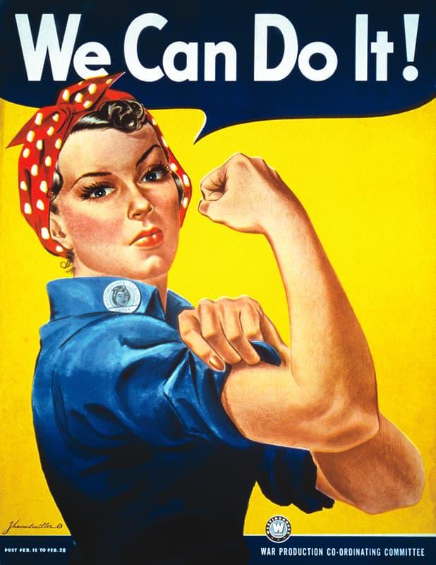 Ouvrière sur affiche au États-Unis, 1942