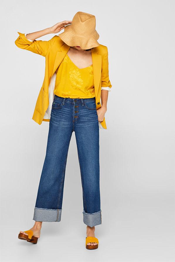 Le pantalon large en jean