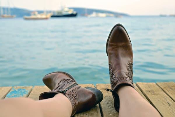 Chaussures à la mode : les santiags